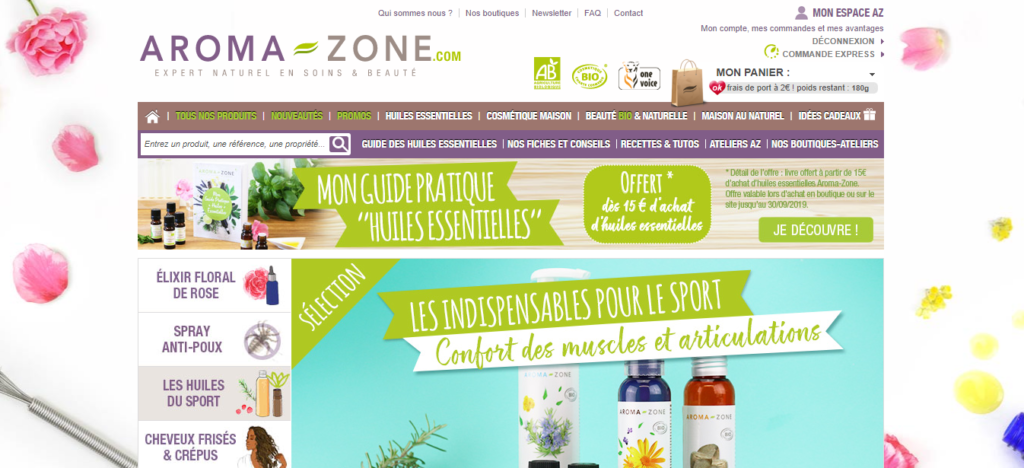 Aroma zone, как купить из аромазон
