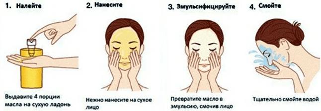 гидрофильное масло как пользоваться