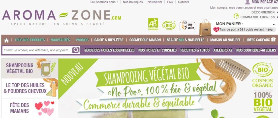 Магазин Аромазон, Aroma zone
